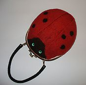 Работы для детей, handmade. Livemaster - original item Children`s felted bag for a little fashionista. Handmade.