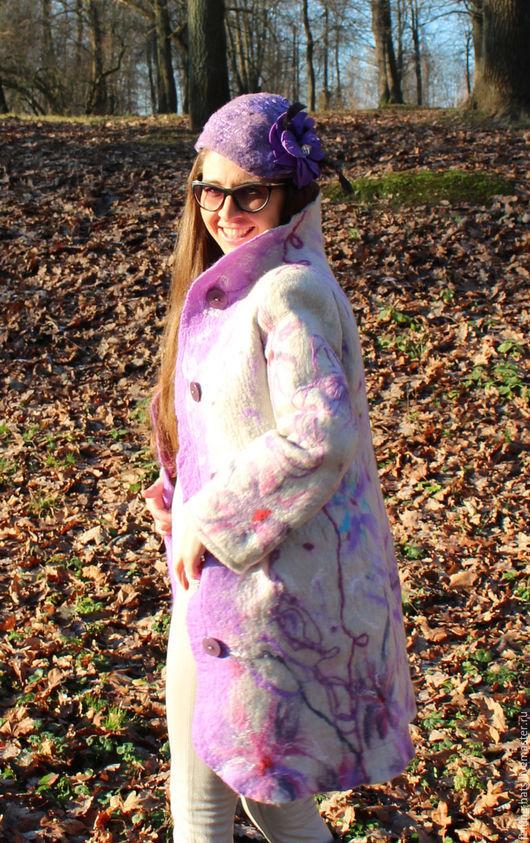 Верхняя одежда ручной работы. Ярмарка Мастеров - ручная работа. Купить Пальто валяное, Пальто из валяной шерсти, пальто шерстяное Радость. Handmade.