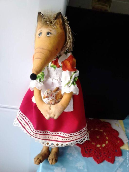 Игрушки животные, ручной работы. Ярмарка Мастеров - ручная работа. Купить Лиса Алиса. Handmade. Комбинированный, текстильная игрушка, для кухни