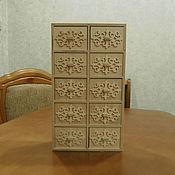 handmade. Livemaster - original item Furniture for dolls: Doll chest of drawers for large dolls 1517. Handmade.