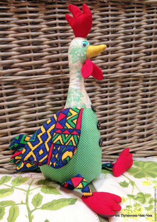 Петушок Прохор Символ 2017 года текстильная игрушка ручная авторская работа МагазинЧик Пупенчик-Чик-Чик