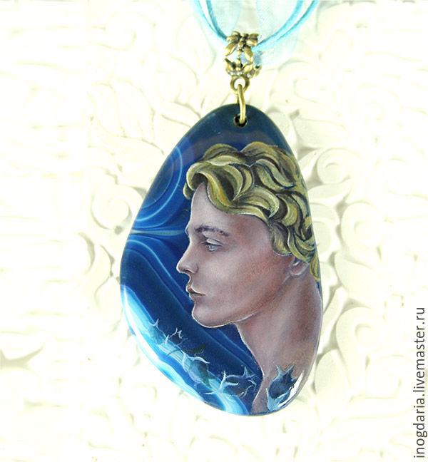 "Painted pendant ""Kai"", Pendants, Moscow,  Фото №1"