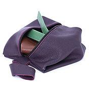 Сумки и аксессуары handmade. Livemaster - original item Violet Cosmetic Bag Travel Bag A Travel Organizer Case Pencil Case. Handmade.