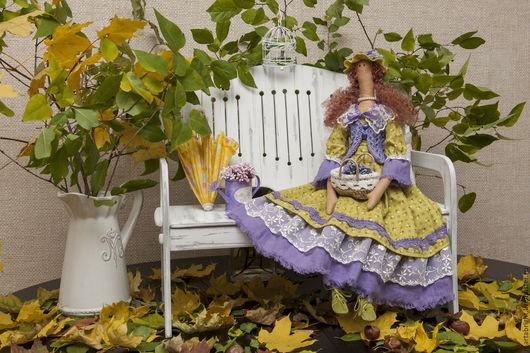Коллекционные куклы ручной работы. Ярмарка Мастеров - ручная работа. Купить Альбина. Handmade. Зеленый, хлопок 100%