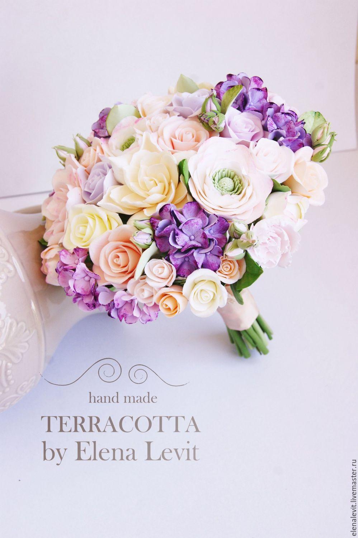 Букет невесты из полимерной глины. Terracotta by Elena Levit.