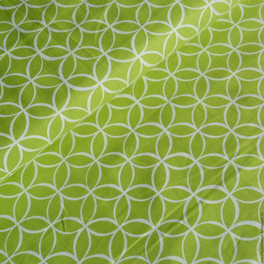 """Шитье ручной работы. Ярмарка Мастеров - ручная работа. Купить Хлопок .Ткань для пэчворка """"Зеленый с рисунком"""". Корея. Handmade. Зеленый"""