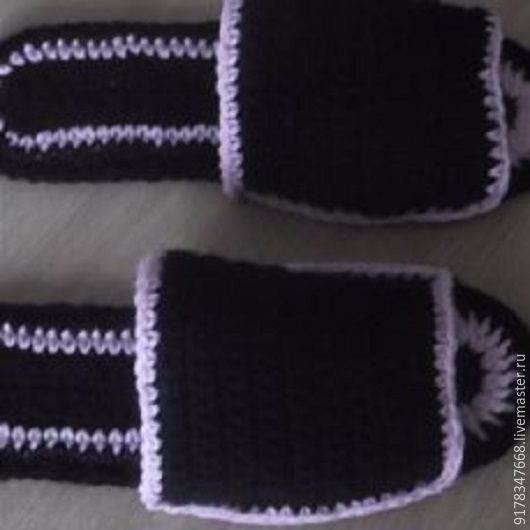 Обувь ручной работы. Ярмарка Мастеров - ручная работа. Купить тапки домашние вязаные женские. Handmade. Черный, недорого