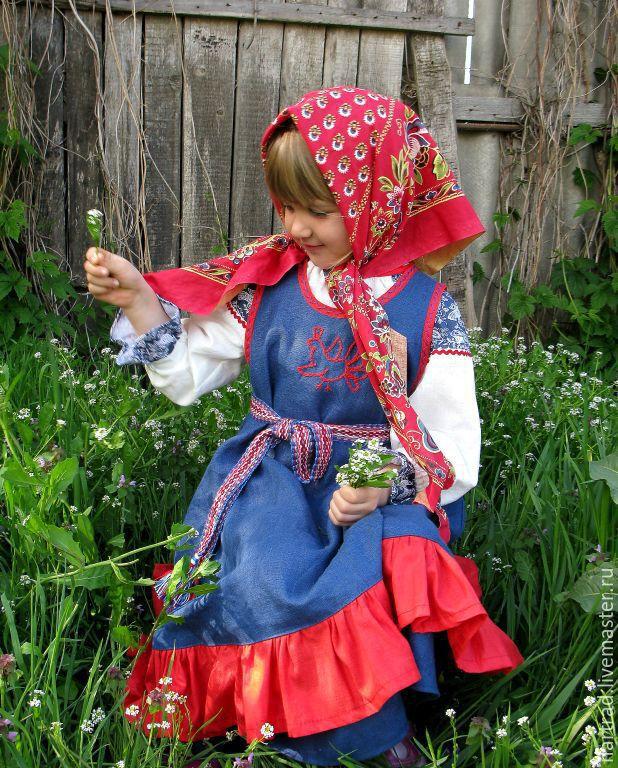 Костюм русской девушки своими руками