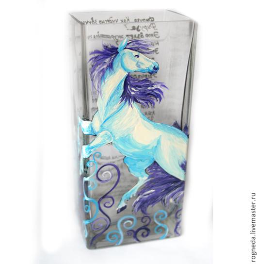 """Вазы ручной работы. Ярмарка Мастеров - ручная работа. Купить Ваза """"Белая лошадь"""" (0854). Handmade. Разноцветный, white horse"""