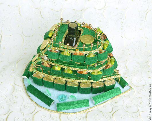 Букеты ручной работы. Ярмарка Мастеров - ручная работа. Купить Букет из конфет, композиция яхта(катер) из конфет с чайным бальзамом. Handmade.