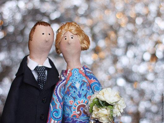 Персональные подарки ручной работы. Ярмарка Мастеров - ручная работа. Купить Свадьба. Handmade. Голубой, портретная кукла, хлопок