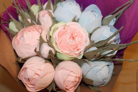 """Букеты ручной работы. Ярмарка Мастеров - ручная работа. Купить Букет из конфет """"Розово-голубой"""". Handmade. Комбинированный, конфетный букет"""