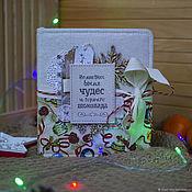 Канцелярские товары handmade. Livemaster - original item Christmas photo album. Handmade.