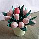 Цветы ручной работы. Ярмарка Мастеров - ручная работа. Купить тюльпаны из ткани, светлый букет. Handmade. Бледно-розовый