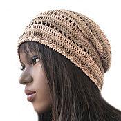 Аксессуары handmade. Livemaster - original item Knitted Sand cap. Handmade.