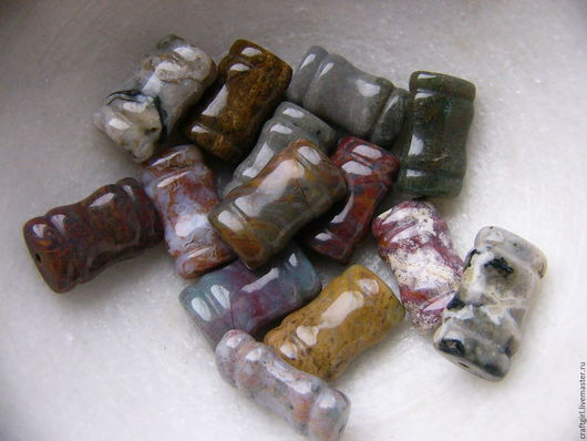Для украшений ручной работы. Ярмарка Мастеров - ручная работа. Купить Яшма резная, 20 х 12 мм. Handmade.