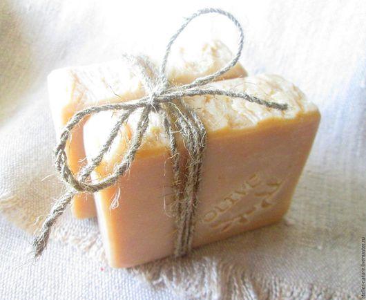 `Оливковое молочное` мыло натуральное, марсельское