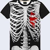 """Одежда ручной работы. Ярмарка Мастеров - ручная работа Мужская футболка """"Скелет"""". Handmade."""