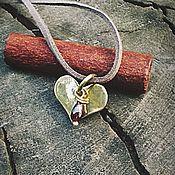 Украшения ручной работы. Ярмарка Мастеров - ручная работа Кулон «Гранатовое сердце». Handmade.