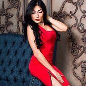 """Одежда ручной работы. Ярмарка Мастеров - ручная работа Вечернее платье """"Девушка в красном"""". Handmade."""