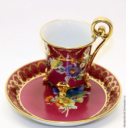 Кухня ручной работы. Ярмарка Мастеров - ручная работа. Купить Кофейная пара. Handmade. Серый, золото, вишневый цвет