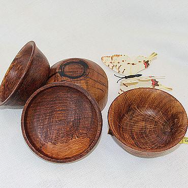 Посуда ручной работы. Ярмарка Мастеров - ручная работа Пиалы: пиалы деревянные дубовые, набор. Handmade.