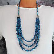 Украшения handmade. Livemaster - original item Necklace made of agate and coral