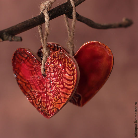 Подарки для влюбленных ручной работы. Ярмарка Мастеров - ручная работа. Купить Сувенир керамический Любящее сердце. Handmade. Сердце, сувенир