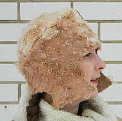 "Аксессуары ручной работы. Ярмарка Мастеров - ручная работа шапка ""Боярыня"" теплая,валяная,с ушками. Handmade."