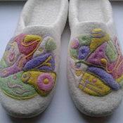 """Обувь ручной работы. Ярмарка Мастеров - ручная работа Валяные тапочки """" Нежное прикосновение"""". Handmade."""