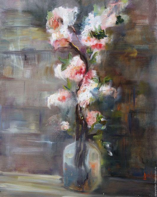 Картины цветов ручной работы. Ярмарка Мастеров - ручная работа. Купить Зарождение жизни. Handmade. Бледно-розовый, цветы