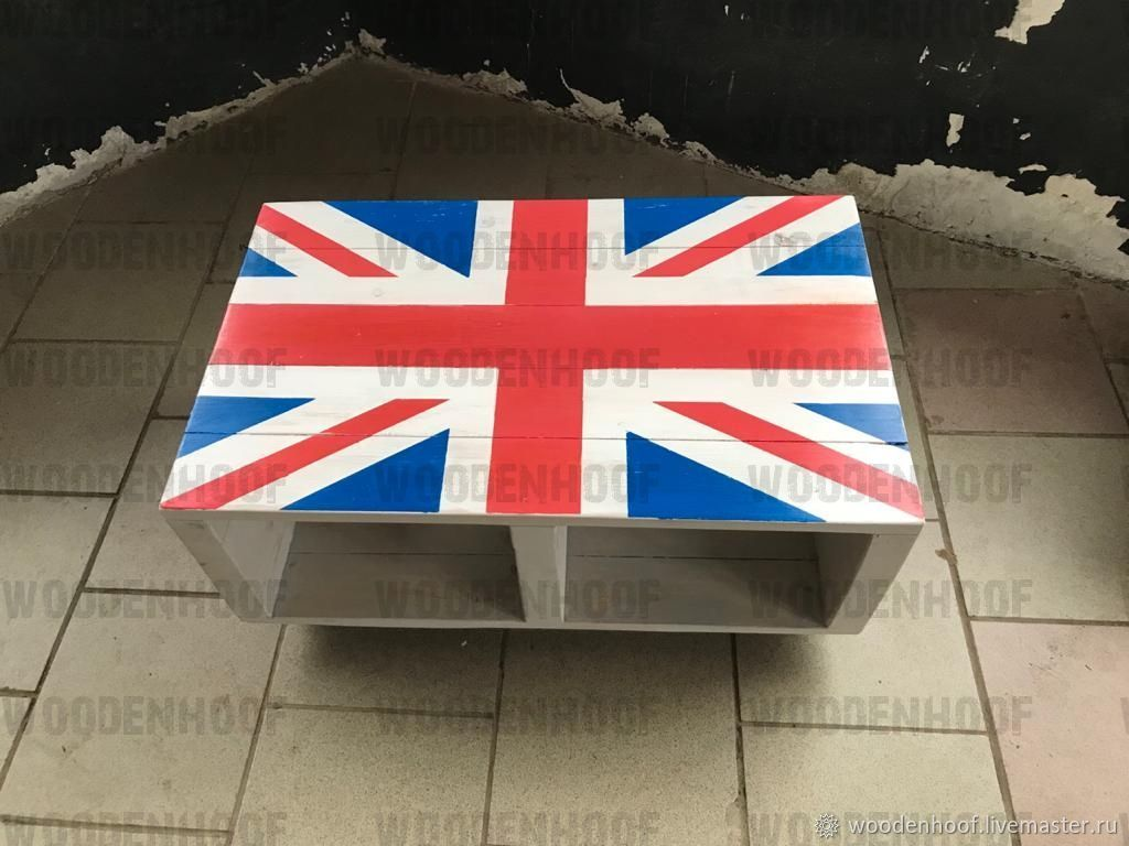British flag coffee table', Tables, Moscow,  Фото №1