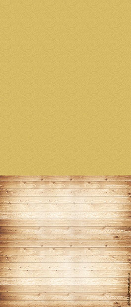 """Фото и видео услуги ручной работы. Ярмарка Мастеров - ручная работа. Купить Виниловый фотофон """"Охровые обои, деревянный пол"""", 150х350 см. Handmade."""