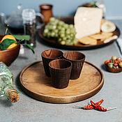 Посуда handmade. Livemaster - original item Tray Set of Wooden glasses (3#34. Handmade.
