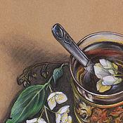 Картины и панно ручной работы. Ярмарка Мастеров - ручная работа Картина пастелью Чай с жасмином. Handmade.