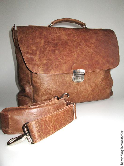 """Мужские сумки ручной работы. Ярмарка Мастеров - ручная работа. Купить Портфель """"Brown"""". Handmade. Коричневый, портфель из кожи"""