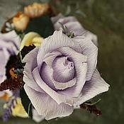 Цветы и флористика ручной работы. Ярмарка Мастеров - ручная работа Чайные розы.......букет из конфет в чашке. Handmade.