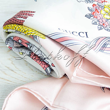 Accessories handmade. Livemaster - original item Italian scarf from fabric GUCCI