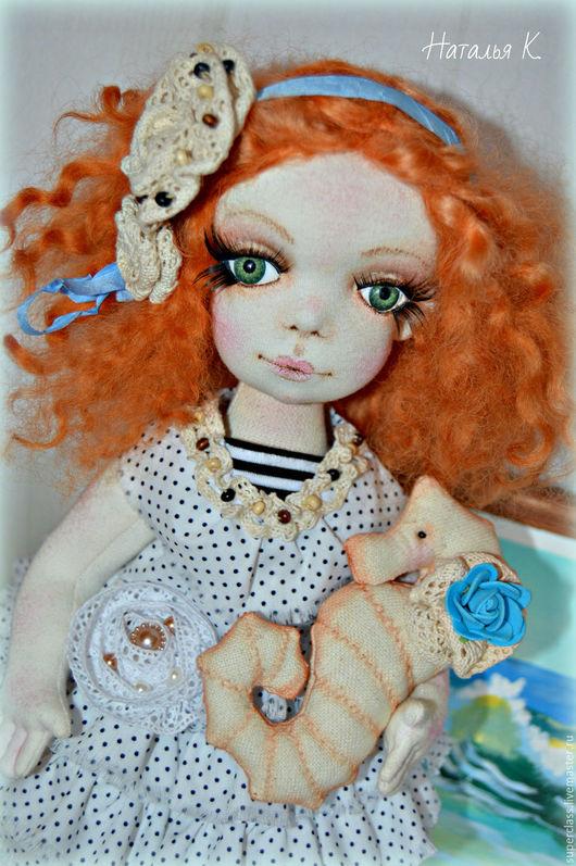 Коллекционные куклы ручной работы. Ярмарка Мастеров - ручная работа. Купить Рыженькая Ассоль - текстильная куколка. Handmade. Белый