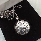 Amulet handmade. Livemaster - original item Mascots: Silver seal of Solomon.- Health chain. Handmade.