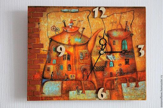Часы для дома ручной работы. Ярмарка Мастеров - ручная работа. Купить Часы настенные  О Любви. Handmade. Рыжий