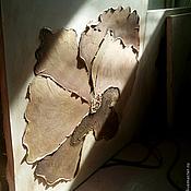 """Картины и панно ручной работы. Ярмарка Мастеров - ручная работа """"Золотой цветок"""" Модульная картина. Handmade."""