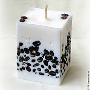 Candles handmade. Livemaster - original item The coffee drinkers. Scented candle with grains of black coffee.. Handmade.