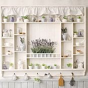 Для дома и интерьера handmade. Livemaster - original item Large shelf in the style of Provence for the kitchen Champagne series Scented Lavender. Handmade.