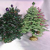 Подарки к праздникам ручной работы. Ярмарка Мастеров - ручная работа Подарок к Новому году - ёлочка из бисера. Handmade.