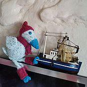 Куклы и игрушки ручной работы. Ярмарка Мастеров - ручная работа Вязаная ворона. Handmade.