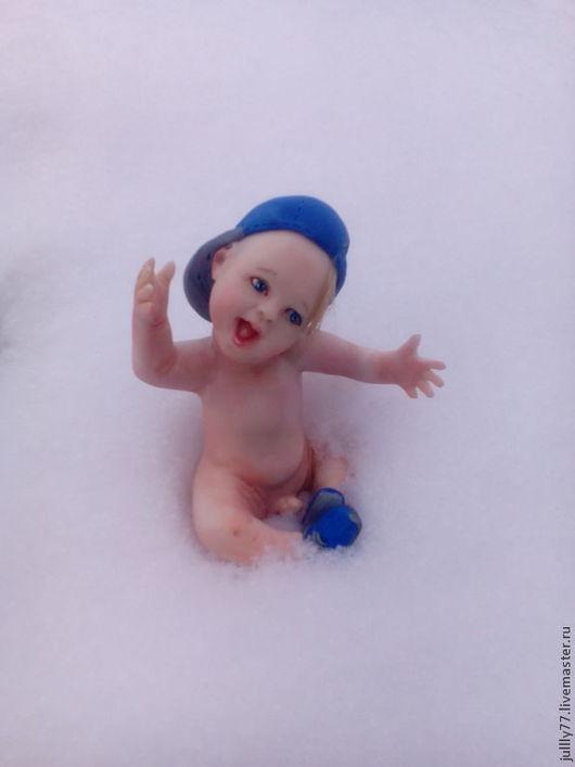 Куклы-младенцы и reborn ручной работы. Ярмарка Мастеров - ручная работа. Купить Санька. Handmade. Кремовый, пупс из фимо, пупс