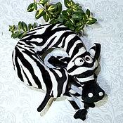Сувениры и подарки handmade. Livemaster - original item Car pillow Zebra. Handmade.
