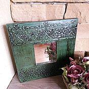 """Для дома и интерьера ручной работы. Ярмарка Мастеров - ручная работа Зеркало """"Green"""". Handmade."""