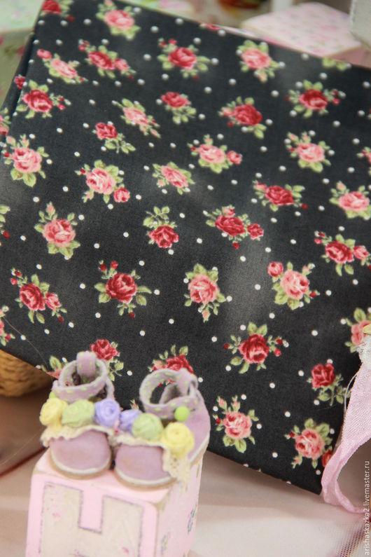 Куклы и игрушки ручной работы. Ярмарка Мастеров - ручная работа. Купить Ткань хлопок №166  с мелким рисунком. Handmade. Комбинированный